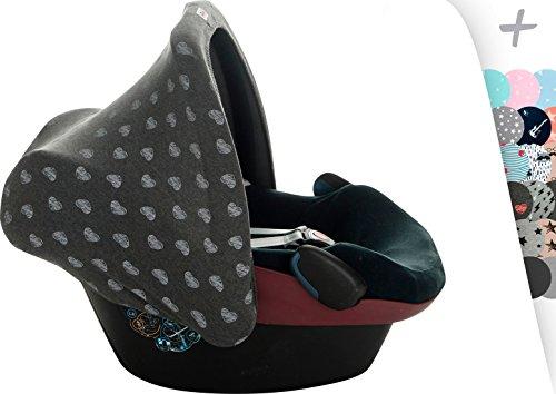 Janabebe® Universal Verdeck/Dach für Maxi Cosi/Babyschale Gruppe 0+ als Sonnenschutz/Windschutz / SonnenDach/Sonnenverdeck