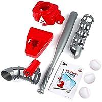 Longspeed Máquina de Lanzamiento automática de béisbol Máquina de Lanzamiento de Lanzamiento Versión de batería Ejercicio de pies portátiles QCM033-1 Rojo y Gris