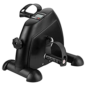 Finether Mini-Bike Heimtrainer Bewegungstrainer Pedaltrainer Arm- und Beintrainer mit LCD-Monitor Fahrradtrainer Heimfahrrad Trainingsrad Trainingsgerät