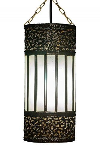 Orientalische Lampe Pendelleuchte Weiß Samir 35cm E27 Lampenfassung | Marokkanische Design Hängeleuchte Leuchte aus Marokko | Orient Lampen für Wohnzimmer Küche oder Hängend über den Esstisch