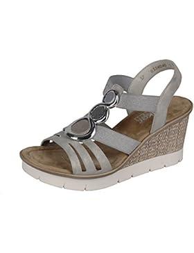 Rieker 65540-40 Damen Sandalette eleganter Boden