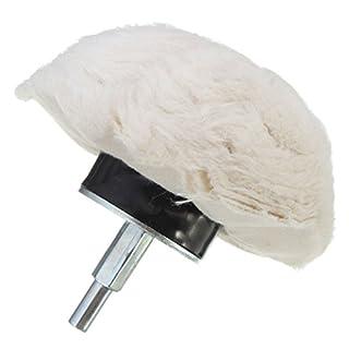 Buffing Wheels - SODIAL(R)1PC 4 Inch 100% Cotton Dome Polishing Mop Buffing Wheel Polish Pad Drills White