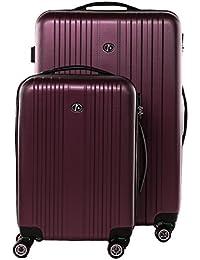 FERGÉ® valise trolley variété de couleurs et de tailles TOULOUSE bagages rigide 4 roues 360 degrés