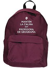 HippoWarehouse Mantén la Calma Soy Profesora de Geografía kit mochila Dimensiones: 31 x 42 x 21 cm Capacidad: 18 litros