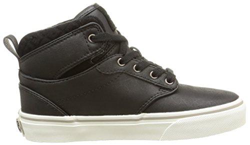 Vans Y Atwood Hi Leather, Baskets Basses Mixte Enfant Gris (Leather/Black/Aluminum)