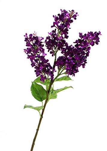artplants Künstlicher Fliederzweig mit 3 Blüten, lila, 85 cm, Ø 7 cm – Kunstblume Flieder/Kunstpflanzen / Dekoblume