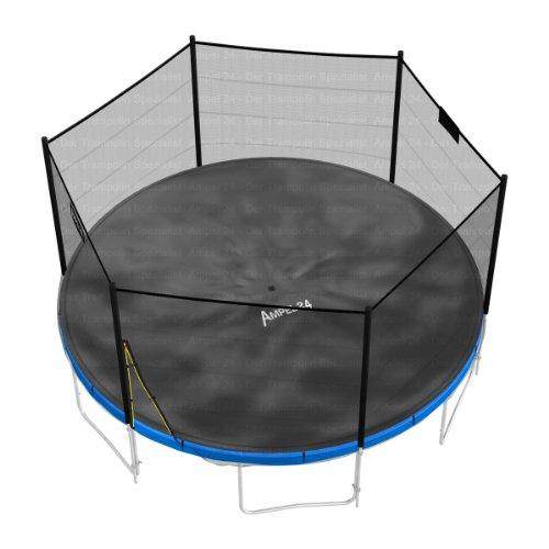 Ampel 24 Trampolin Abdeckplane | Wetterschutzplane für Gartentrampolin 430 cm | UV-beständig | schwarz - 3