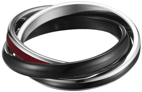 Esprit Damen-Ring Edelstahl rhodiniert Marin black, 54 (17.2) - Vintage Collection Epoxy