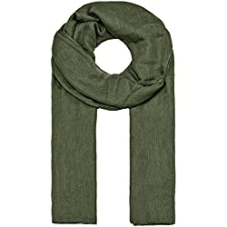MANUMAR Bufanda unicolor para mujer | pañuelo fino verde como accesorio perfecto para el verano | Bufanda mujer de tubo | Fular mujer infinita | idea del regalo