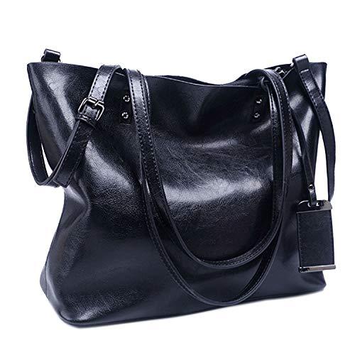 Eveout borsa da donna vintage in pelle morbida di grande capienza retrò, borsa a spalla da casual con tracolla per lavoro borsa classica da viaggio con borse da viaggio nappa per donna