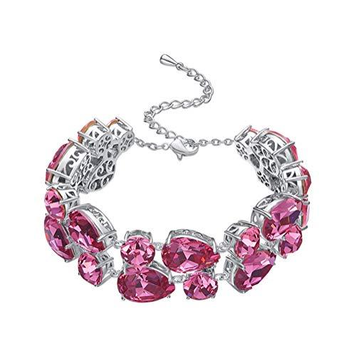 H.l braccialetto variopinto delle donne con swarovski elements crystal con un regalo di compleanno cofanetto per lei,rose