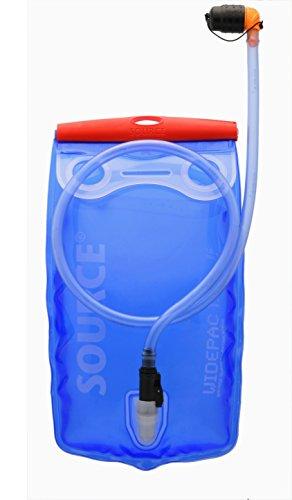 Source Wasserbehälter Widepac Trinkblase, transparent/Blau, 1.5 Liter