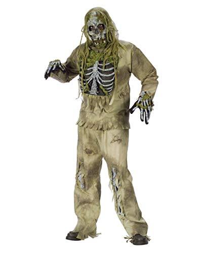 Skelett Zombie 3D Deluxe Halloween Kostüm für Erwachsene - M/L (Skelett Für Erwachsene Kostüm Deluxe)