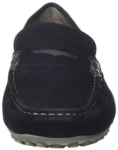 Geox Uomo Snake Mocassino A, Mocassins (Loafers) Homme Bleu (Navy)