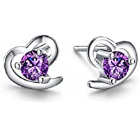 J. Venus Women Basic 925 Sterling Silver Stud Earrings set