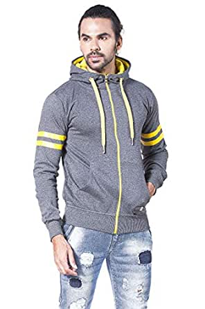 Alan Jones Solid Full Sleeves Men's Sweatshirt (SS-TRIM601-DGREY-S_Small_Dark Grey)