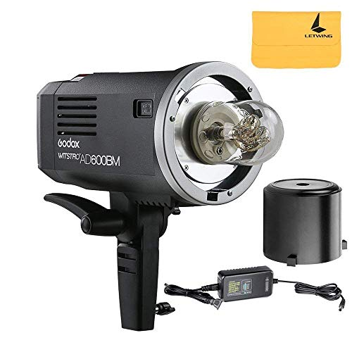 Godox Witstro AD600BM Manual Version Sync 1/8000s 2.4G System Build-in 8700mAh Li-on Batterie Wireless Outdoor Blitzlicht Speedlite für DSLR Kameras (AD600BM). Sync Profoto