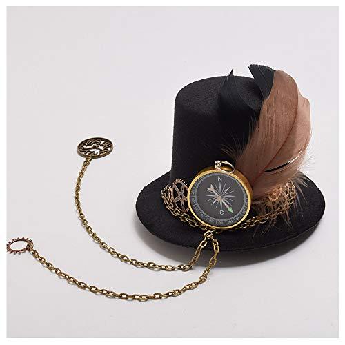 20er Jahre Gangster Girl Kostüm - LaVintage Elegante Winterwolle Fedoras Mini Top