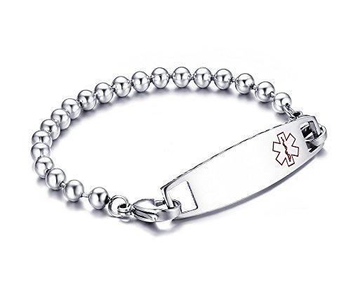 vnox-perlen-gliederkette-edelstahl-medical-alert-id-teller-diabetes-armband-silber-215-cm-gratis-gra