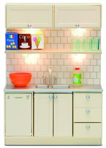 Imagen principal de Lundby Småland 60.2063.00 - Fregadero y lavavajillas miniatura para casa de muñecas (escala 1:18)