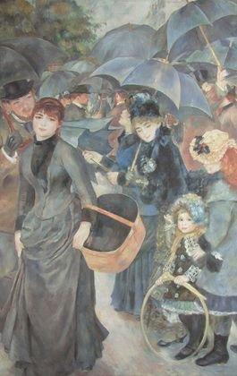 Pierre Auguste Renoir gli ombrelli Poster Stampa artistica ohne rahmen