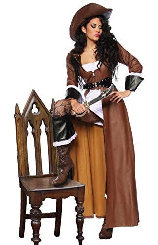 sexy Piraten Kostüm, inkl Hut, 7 tlg., (Damen Hüte Piraten)