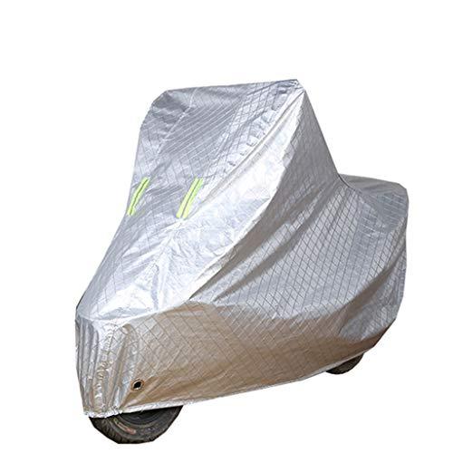 CJW Wasserdichte Motorrad Abdeckung Motorrad Abdeckung Roller Abdeckung Schutz im Freien Oxford Universal Heavy Duty Abdeckung Externe Lagerung (Color : Silver, Größe : XL)