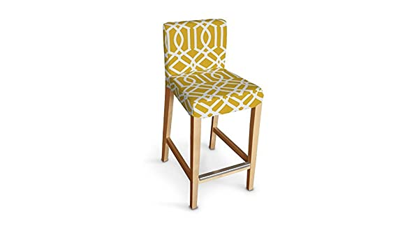 Cool Dekoria Ikea Henriksdal Bar Stool Cover White Pattern On Forskolin Free Trial Chair Design Images Forskolin Free Trialorg
