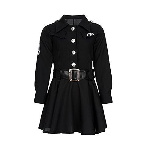 Kostümplanet® FBI Agent Polizei-Kostüm Mädchen Kinder Kostüm Polizistin Größe 128 (Fbi-kostüm Für Jungen)