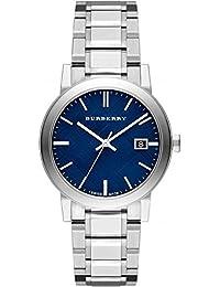 PROMOCIÓN! Auténtico Suizo Burberry DE LUJO Reloj Hombres Unisexo The City Esfera Azul Fecha BU9031