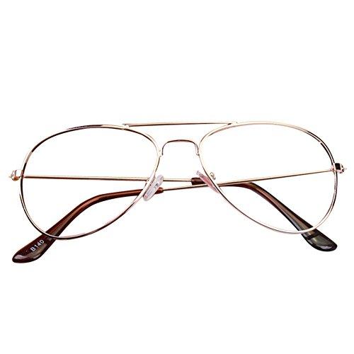 Baby Aviator Gläser Rahmen - Kinder Brillen Geek / Nerd Retro Reading Eyewear Keine Objektive für Mädchen Jungen - (Mädchen Kostüm Für Nerd)