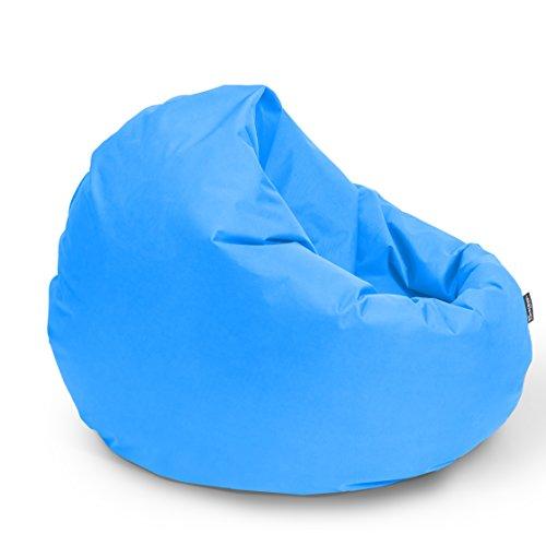 BuBiBag Sitzsack 2-in-1 Funktionen mit Füllung Sitzkissen Bodenkissen Kissen Sessel BeanBag (145 cm Durchmesser, königsblau)