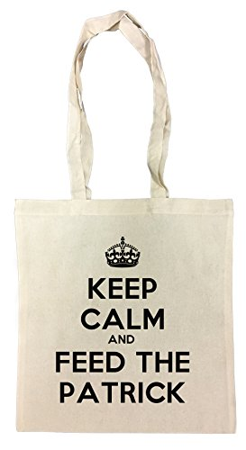Keep Calm And Feed The Patrick Einkaufstasche Wiederverwendbar Strand Baumwoll Shopping Bag Beach (Star Patrick Niedlich)