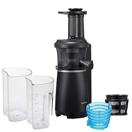 Panasonic mj-l501kxe slow juicer, estrattore di succo senza lame, design salvaspazio sottile ed elegante, elevata silenziosità, finitura soft, 150 w, 63 decibel, nero