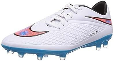 Nike Men's Hypervenom Phelon Fg White,Blue Lagoon,Total Crimson,Black  Football Boots -5 UK/India (38 EU)(5.5 US)