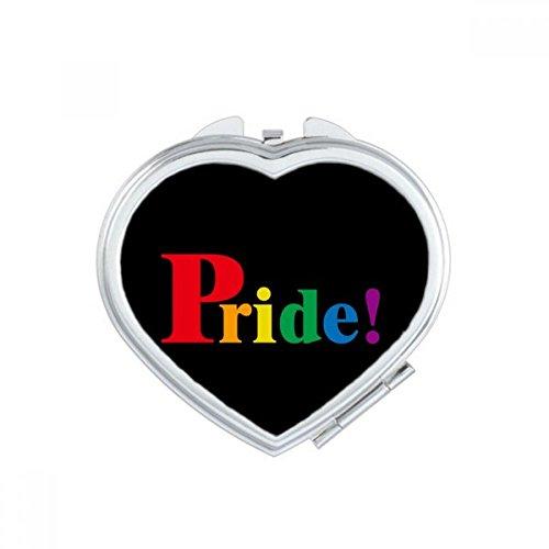 Orgullo Lgbt Rainbow Homo corazón compacto Maquillaje espejo de bolsillo portátil cute pequeña mano espejos regalo