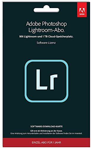 Adobe Photoshop Lightroom 1TB | 1 Jahr | PC/Mac | Key Card und Download