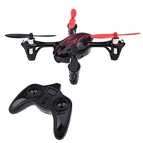 Hubsan Drohne H107C X4 Quadrocopter 2.4 Ghz 4 Kanal mit 480P Kamera (Rot Schwarz) - 2