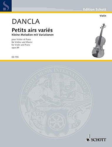 Kleine Melodien Mit Variationen Op. 89 Violon