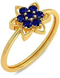 Joyalukkas 22k (916) Yellow Gold and Blue Sapphire Ring for Girls