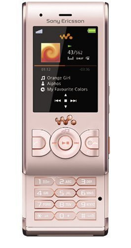 Sony Ericsson W595 Handy (Bluetooth, 3.2MP, 2GB Memory Stick, Walkman, UKW-Radio) Peachy Pink