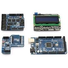 SainSmart C13 - Kit de placa microcontroladora ATmega2560 + sensor Shield V4 + tarjeta XBee Shield + LCD Keypad Shield para Arduino UNO R3 Mega 2560/Nano DUE Duemilanove AVR ATMEL Robot XBee ZigBee