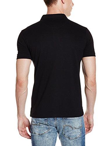 Allen Solly Men's Plain Regular Fit Cotton Polo (AMKP317G04249_Jet Black_Large)