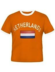 Brubaker Niederlande Fan T-Shirt Orange Gr. S - XXXL