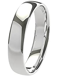 Nuevo sólido Argentium plateado 4mm Heavy Court de confort Fit Unisex anillo de boda banda disponibles en todos los tamaños de H–Z + 3| fabricado en el Reino Unido. & Hallmarked