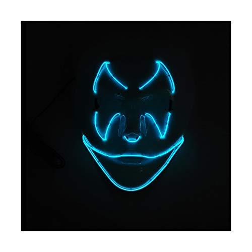 YOIO LED-Maske Fledermaus-Smiley-Geburtstags-Party-Party EL Kaltes Licht Strahlungsmaske, hellblau
