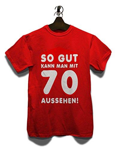 So Gut Kann Man Mit 70 Aussehen T-Shirt Rot