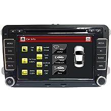 "Henhaoro 7"" unidad principal en la rociada 2 din pantalla táctil coche Dvd GPS de navegación para Volkswagen Golf Passat Polo VW radio estéreo"