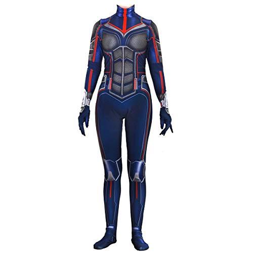 QQWE Ant-Man Cosplay Kostüm Wasp Schlacht Anzug Kostüm Film Rollenspiel Kleidung Body Spandex Jumpsuits,A-L