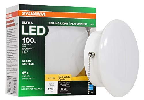 Sylvania Home Beleuchtung 75112Porzellan Sockel Sylvania entspricht 100W, Ultra LED Medium Boden Retrofit für Deckenleuchte Beschläge, effiziente 15W, Soft weiß 2700K (Sylvania 100w Led-lampe)